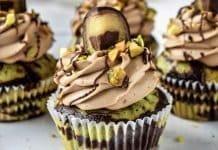 Csokis pisztáciás Mozart muffin