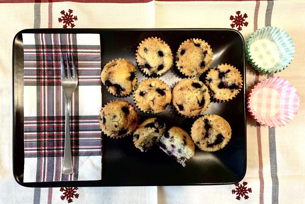 Áfonyás muffin recept