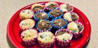 Csokis diós muffin