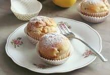 Túrós almás muffin