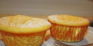 Túrós vaníliás muffin